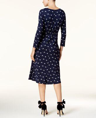 MaxMara Printed V-Neck Midi Dress