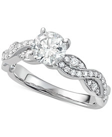 Diamond Overlap Engagement Ring (1-1/4 ct. t.w.) in 14k White Gold