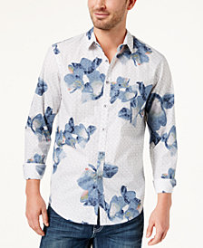 I.N.C. Men's Geometric Floral-Print Shirt, Created for Macy's