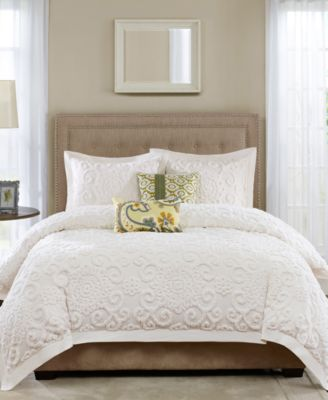 Suzanna Ivory 3-Pc. Full/Queen Comforter Mini Set