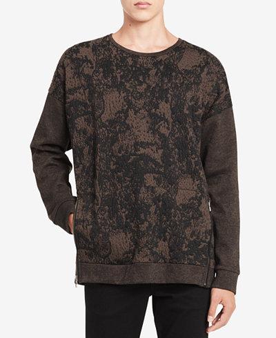 Calvin Klein Men's Printed Oversize Sweatshirt