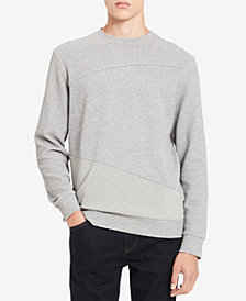 Calvin Klein Men's Pieced Textured Sweatshirt