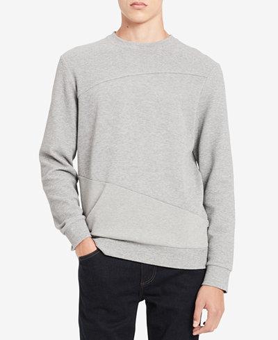 Calvin Klein Men's Pieced Textured Sweatshirt