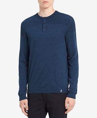 Calvin Klein Jeans Men's Textured Henley Sweater