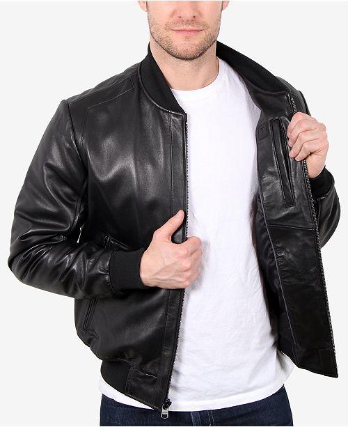 WILLIAM RAST Men's Leather Varsity Baseball Jacket & Reviews