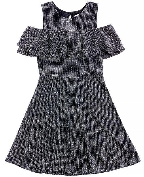 Epic Threads Cold-Shoulder Skater Dress, Big Girls, Created for Macy's