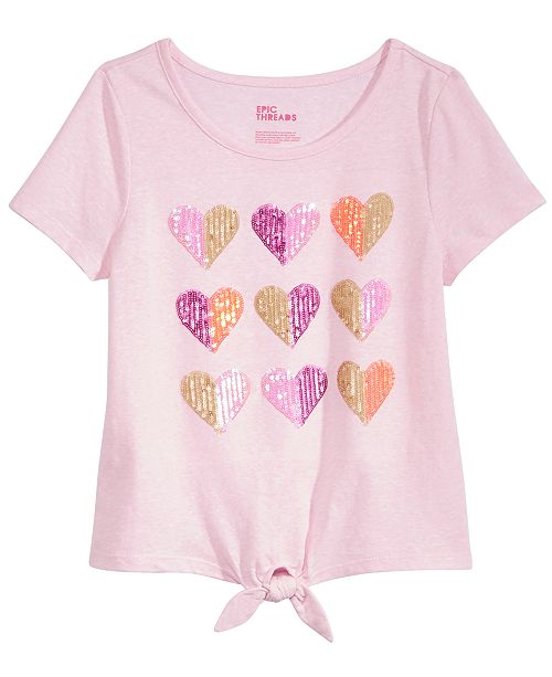 Epic Threads Sequin Hearts T-Shirt, Big Girls, Created for Macy's