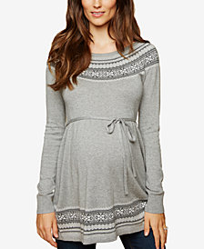 Motherhood Maternity Patterned Babydoll Sweater