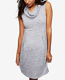 RIPE Maternity Cowl-Neck Dress