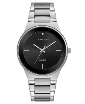 Designed by Bulova Men's Diamond-Accent Stainless Steel Bracelet Watch 40mm