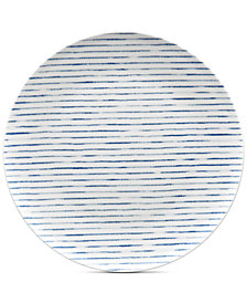 Noritake Blue Hammock Coupe Stripes Dinner Plate, Created for Macy's