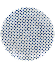 Noritake Blue Hammock Coupe Dots Appetizer Plate, Created for Macy's