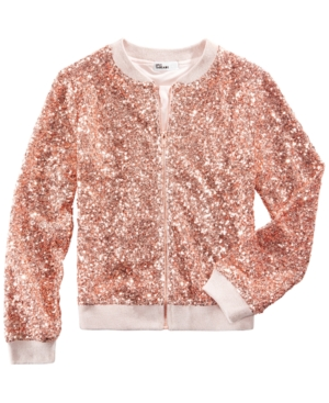 Epic Threads Sequin Bomber Jacket Big Girls (716) Created for Macys
