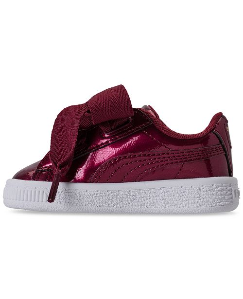 a1c48a6c24d ... Puma Toddler Girls  Basket Heart Glam Casual Sneakers from Finish ...