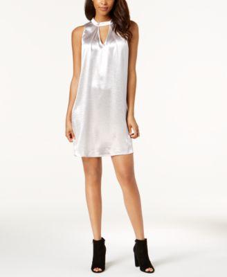 Bar III Keyhole Metallic Dress