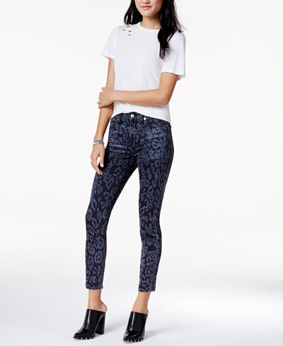 7 For All Mankind Printed Ankle Skinny Jeans