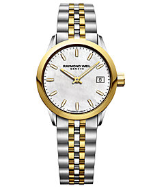 RAYMOND WEIL Women's Swiss Freelancer Two-Tone Stainless Steel Bracelet Watch 26mm