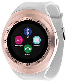 iTOUCH Unisex Curve White Silicone Strap Touchscreen Smart Watch 44mm