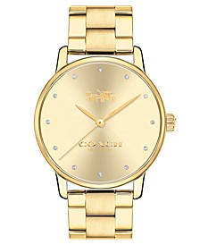 Women's Grand Gold-Tone Stainless Steel Bracelet Watch 36mm