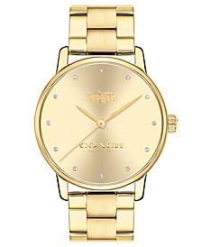 Women's Grand Gold-Tone Stainless Steel Bracelet Watch 36mm