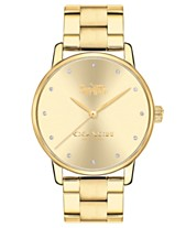 446101378eb COACH Women s Grand Gold-Tone Stainless Steel Bracelet Watch 36mm