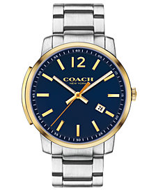COACH Men's Bleecker Slim Stainless Steel Bracelet Watch 42mm