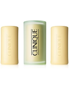 Clinique 3 Little Soaps with Travel Dish, Mild