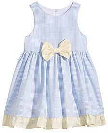 Marmellata Check-Print Seersucker Dress, Baby Girls