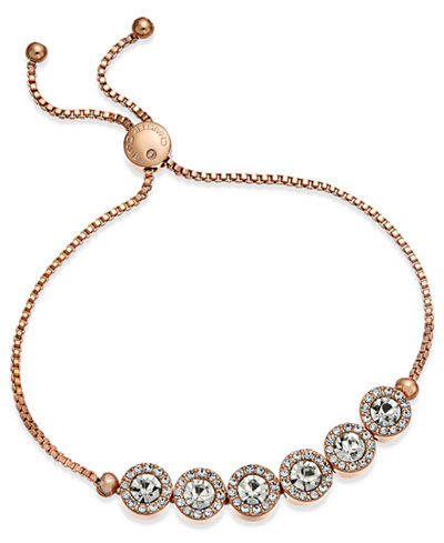 Charter Club Crystal Slider Bracelet, Created for Macy's