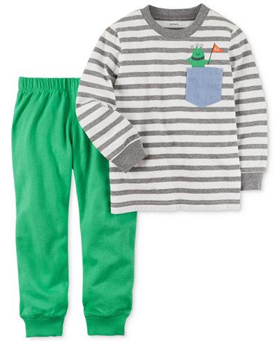 Carter's 2-Pc. Cotton Striped T-Shirt & Jogger Pants Set, Baby Boys