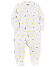 Carter's Baby Boys & Girls Cloud-Print Cotton Footed Coverall