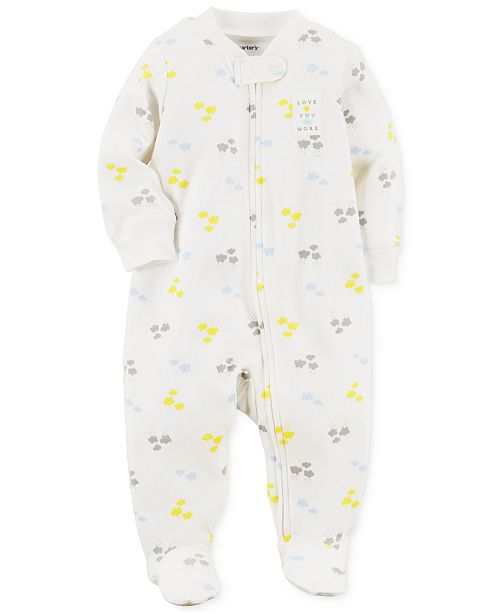 d5b0a9deb Carter s Baby Boys   Girls Cloud-Print Cotton Footed Coverall - All ...