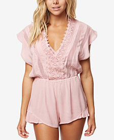 O'Neill Juniors' Shay Illusion Romper Cover-Up