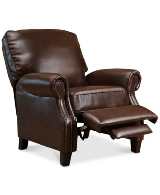 Harrison Leather Pushback Recliner Furniture Macy S