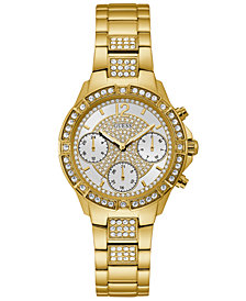 GUESS Women's Gold-Tone Stainless Steel Bracelet Watch 36mm