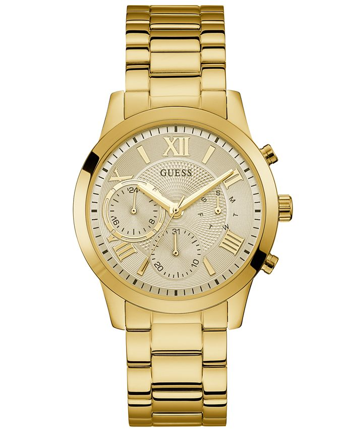 GUESS - Women's Gold-Tone Stainless Steel Bracelet Watch 40mm