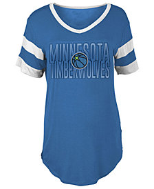 5th & Ocean Women's Minnesota Timberwolves Hang Time Glitter T-Shirt