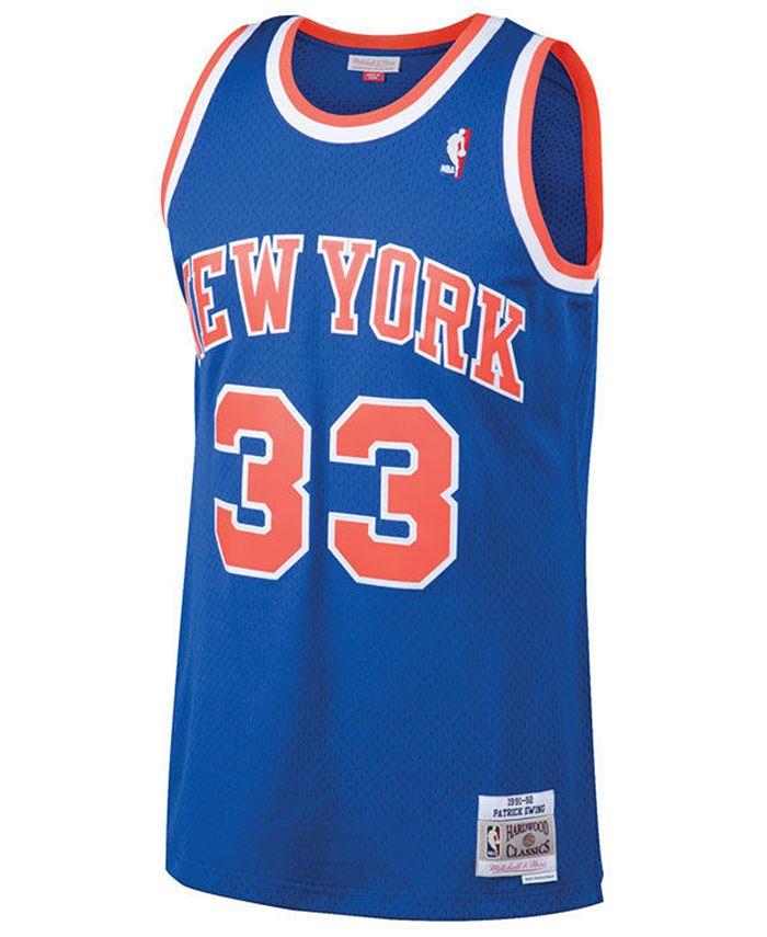 Mitchell & Ness Men's Patrick Ewing New York Knicks Hardwood ...