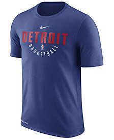 Nike Men's Detroit Pistons Dri-FIT Cotton Practice T-Shirt