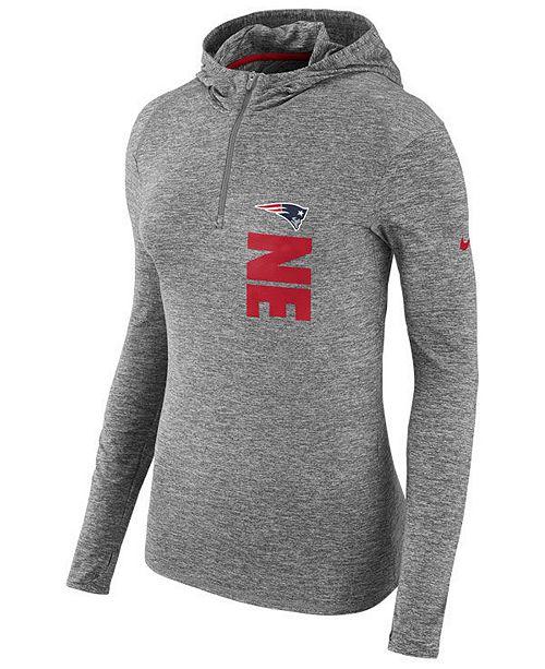 online retailer 7d2e8 f4f26 Nike Women's New England Patriots Dri-FIT Element Hoodie ...
