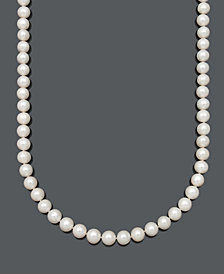 "Belle de Mer AA 22"" Cultured Freshwater Pearl Strand Necklace (9-1/2-10-1/2mm) in 14k Gold"