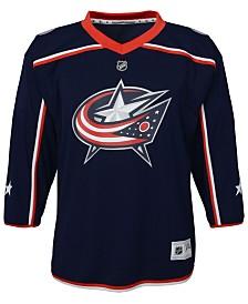Authentic NHL Apparel Columbus Blue Jackets Blank Replica Jersey, Little Boys (4-7)