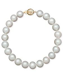 AA+ Cultured Freshwater Pearl Strand Bracelet (7-1/2-8-1/2mm) in 14k Gold