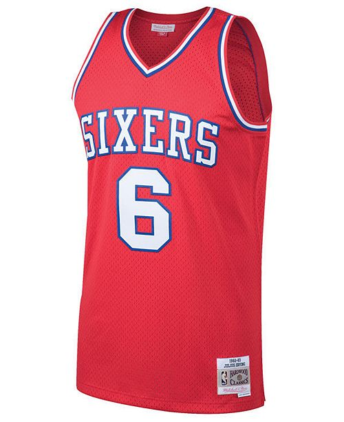 ded139fe862 Mitchell   Ness Men s Julius Erving Philadelphia 76ers Hardwood Classic  Swingman Jersey ...
