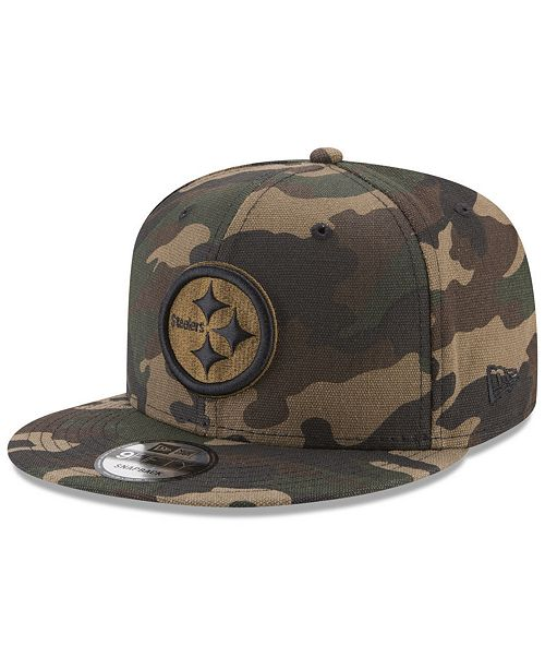69049192 New Era Pittsburgh Steelers Camo on Canvas 9FIFTY Snapback Cap ...