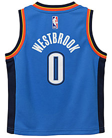 Nike Russell Westbrook Oklahoma City Thunder Icon Replica Jersey, Little Boys (4-7)