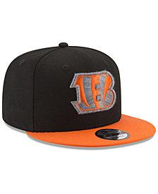 New Era Cincinnati Bengals Heather Pop 9FIFTY Snapback Cap
