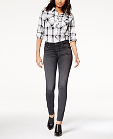 AG Farrah Skinny Grey Denim - High Rise Skinny