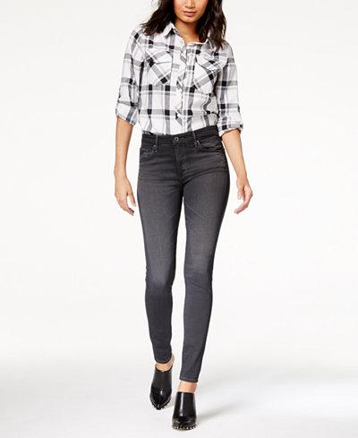 AG Farrah Skinny Grey Denim - High Rise Skinny