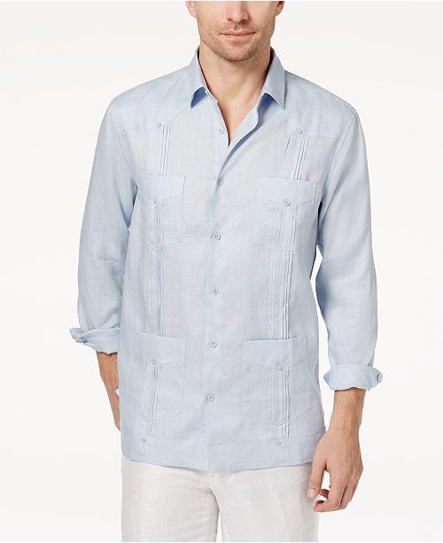 d51b6e382 ... Tasso Elba Men s Linen Guayabera Shirt